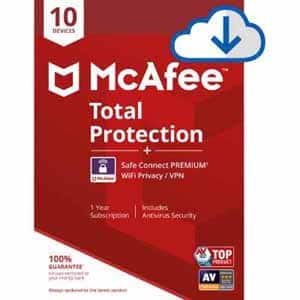 McAfee Total Protection 10 Device with Safe Connect Premium(VPN) [Download] $9.99