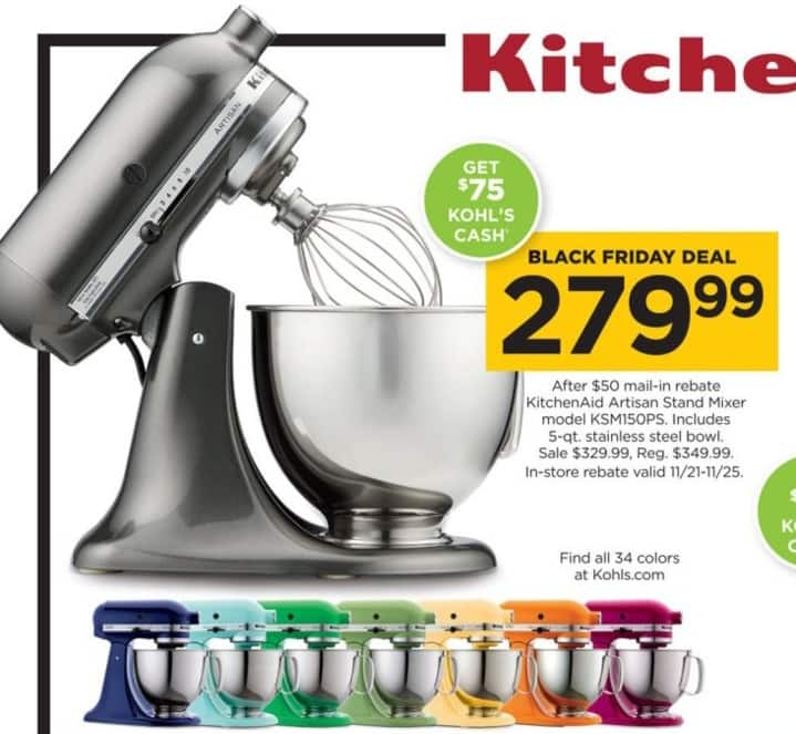 Kitchenaid mixers on sale on this black Friday sale will give huge discounts on KitchenAid products like a mixer, stand mixer, Professional , artisan, mixer attachments, hand mixer and more are the popular and best seller KitchenAid products.