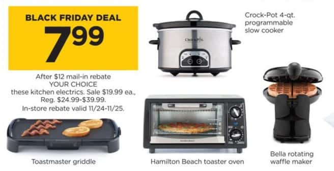 Kohl S Black Friday Hamilton Beach Toaster Oven For 7 99