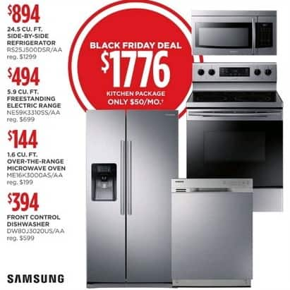 Jcpenney Black Friday Samsung Appliance Bundle Side By Side Refrigerator Electric Range