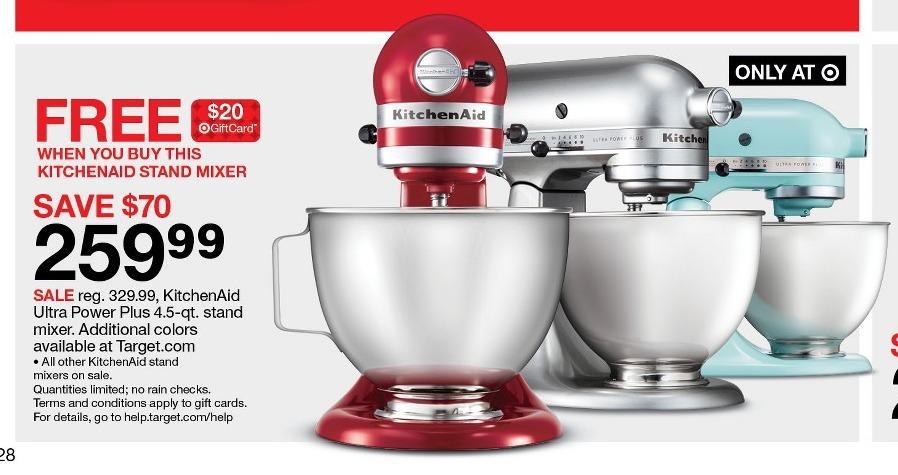 Target black friday kitchenaid ultra power plus 4 5 qt for Kitchenaid black friday