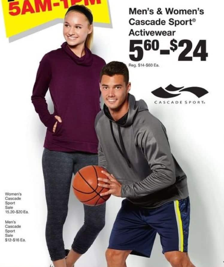 Fred Meyer Black Friday: Men's & Women's Cascade Sport Activewear for $5.60 - $24.00