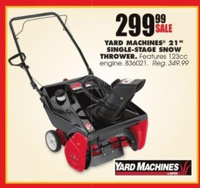 blains farm fleet black friday yard machines 21 single stage snow thrower for. Black Bedroom Furniture Sets. Home Design Ideas