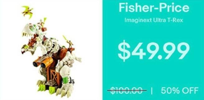 eBay Black Friday: Fisher-Price Imaginext Ultra T-Rex for $49.99