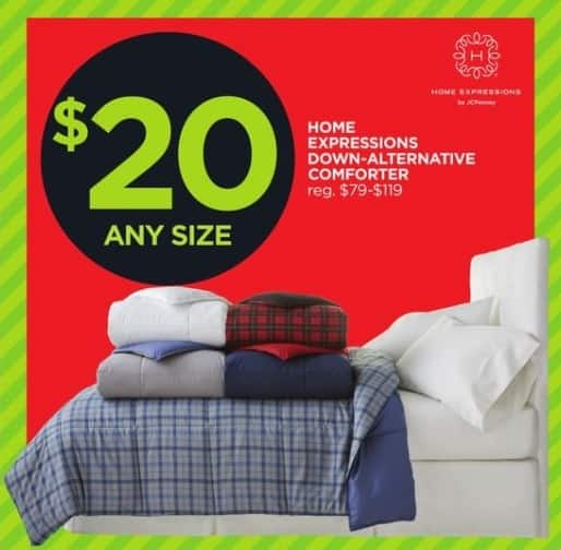 JCPenney Black Friday: Home Expressions Down-Alternative Comforter for $20.00