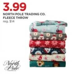 JCPenney Black Friday: North Pole Trading Co. Fleece Throw for $3.99