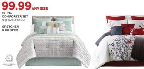 JCPenney Black Friday: Home Expressions 10-Piece Comforter Set for $99.99