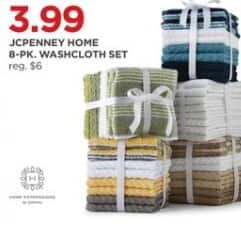 JCPenney Black Friday: JCPenney Home 8-Pack Washcloth Set for $3.99