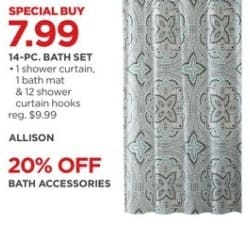 JCPenney Black Friday: 14-Piece Bath Set for $7.99