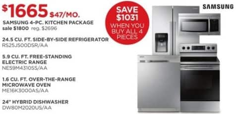 JCPenney Black Friday: Samsung 4-Piece Kitchen Package for $1,665.00