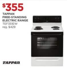 JCPenney Black Friday: Tappan Free-Standing TEF351EW Electric Range for $355.00