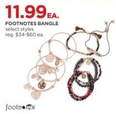 JCPenney Black Friday: Footnotes Bangle, Select Styles for $11.99
