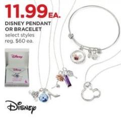 JCPenney Black Friday: Disney Pendant or Bracelet, Select Styles for $11.99