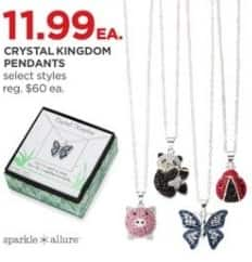 JCPenney Black Friday: Sparkle Allure Crystal Kingdom Pendants, Select Styles for $11.99