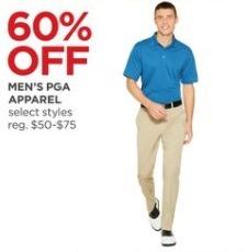 JCPenney Black Friday: Men's PGA Apparel - 60% Off