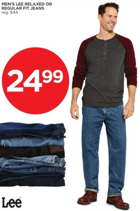 JCPenney Black Friday: Lee Men's Relaxed or Regular Fit Jeans for $24.99