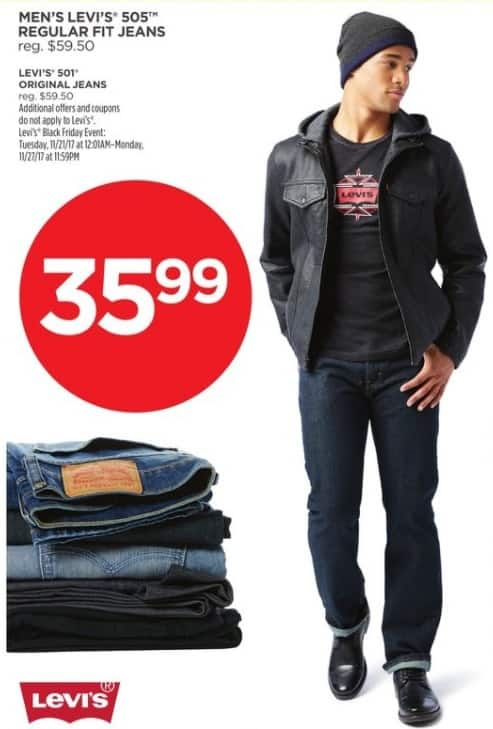 8a4fb73a3 JCPenney Black Friday: Levi's Men's 505 Regular Fit Jeans for $35.99 ...