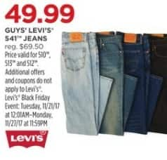 JCPenney Black Friday: Levi's Guy's 541 Jeans for $49.99