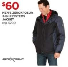 JCPenney Black Friday: ZeroXposur Men's 3-in-1 Systems Jacket for $60.00