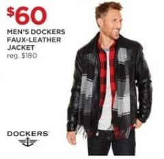 JCPenney Black Friday: Dockers Men's Faux-Leather Jacket for $60.00