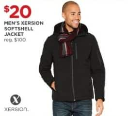 JCPenney Black Friday: Xersion Men's Softshell Jacket for $20.00