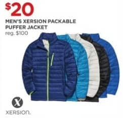 JCPenney Black Friday: Xersion Men's Packable Puffer Jacket for $20.00