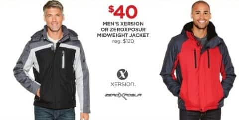 JCPenney Black Friday: Xersion or ZeroXposur Midweight Jacket for $40.00