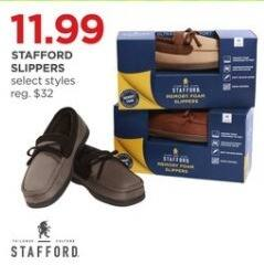 JCPenney Black Friday: Stafford Slippers, Select Styles for $11.99