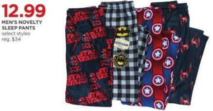 JCPenney Black Friday: Men's Novelty Sleep Pants, Select Styles for $12.99