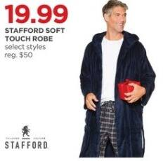 JCPenney Black Friday: Stafford Soft Touch Robe, Select Styles for $19.99