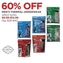 JCPenney Black Friday: St. John's Bay Men's Thermal Underwear, Select Styles for $9.99 - $14.99