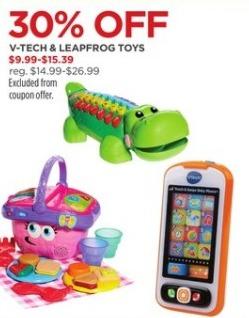 JCPenney Black Friday: V-Tech and Leapfrog Toys for $9.99 - $15.39