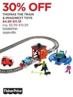 JCPenney Black Friday: Thomas The Train and Imaginext Toys for $4.89 - $11.19