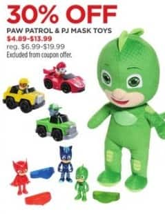 JCPenney Black Friday: Paw Patrol and PJ Mask Toys for $4.89 - $13.99