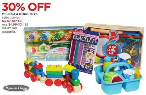 JCPenney Black Friday: Melissa & Doug Toys, Select Styles for $3.49 - $17.49