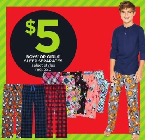 JCPenney Black Friday: Boys' or Girls' Sleep Separates, Select Styles for $5.00