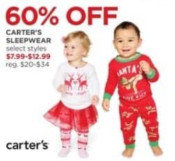 JCPenney Black Friday: Carter's Sleepwear, Select Styles for $7.99 - $12.99