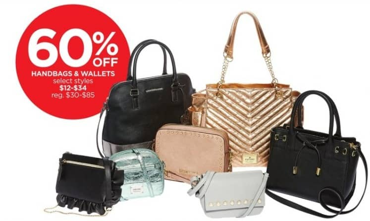 JCPenney Black Friday: Handbags and Wallets for $12.00 - $34.00