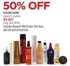JCPenney Black Friday: Select Haircare Products for $2.00 - $27.00