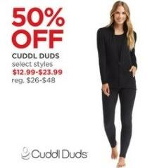 JCPenney Black Friday: Cuddl Duds, Select Styles for $12.99 - $23.99