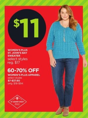 JCPenney Black Friday: St. John's Bay Women's Sweater for $11.00