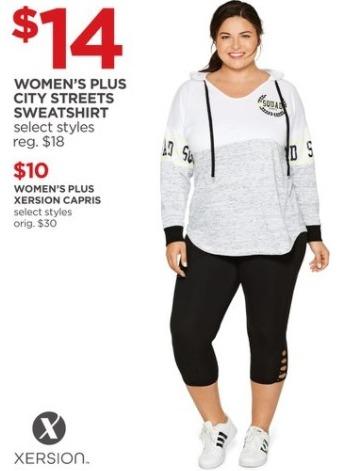 JCPenney Black Friday: Xersion Women's Plus Capris for $10.00
