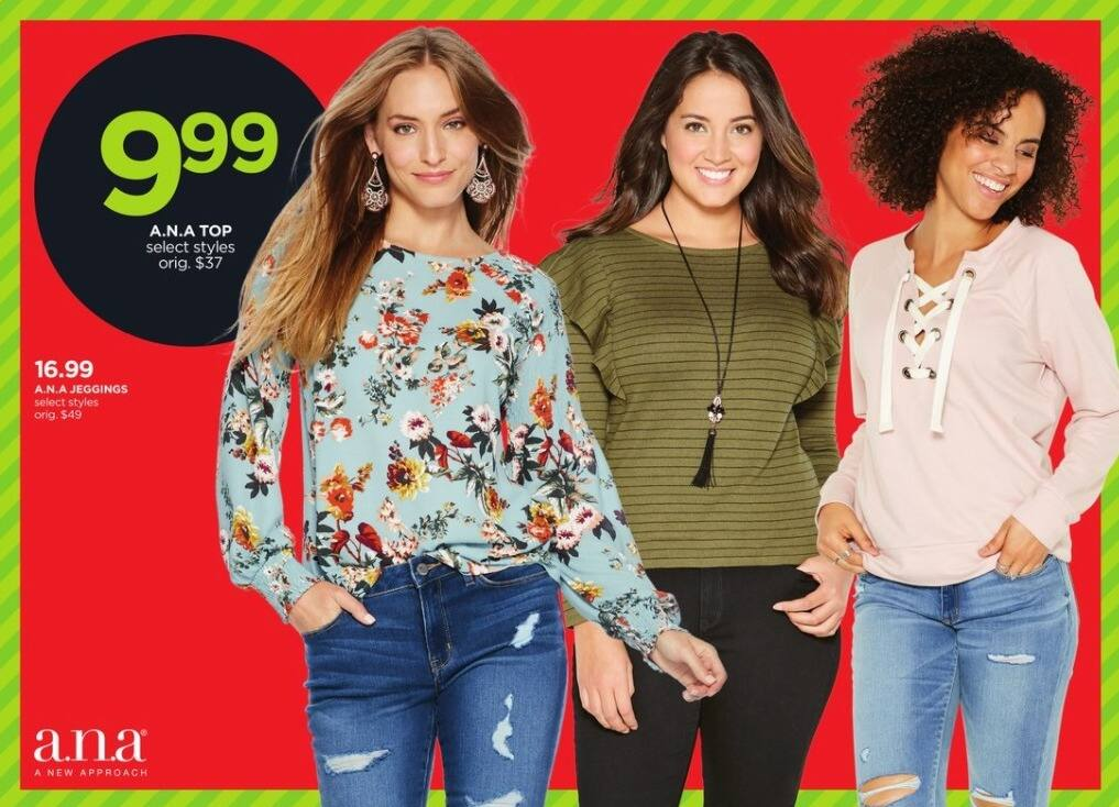 JCPenney Black Friday: A.N.A Women's Tops, Select Styles for $9.99
