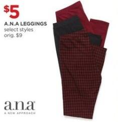 JCPenney Black Friday: A.N.A Leggings for $5.00