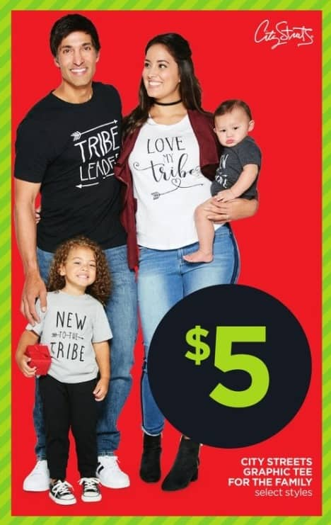 JCPenney Black Friday: City Streets Graphic Tee for the Family for $5.00