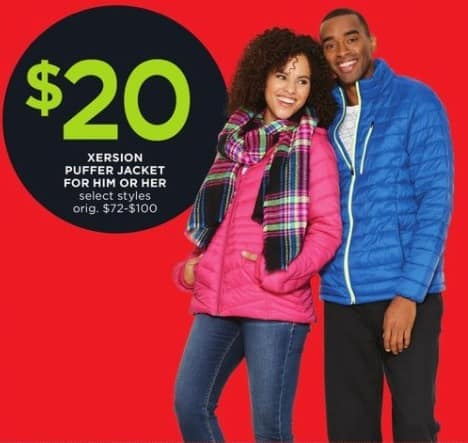 JCPenney Black Friday: Xersion Puffer Jacket for Him or Her for $20.00