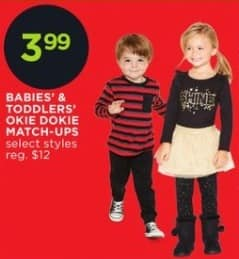 JCPenney Black Friday: Okie Dokie Babies' and Toddlers' Match-Ups for $3.99