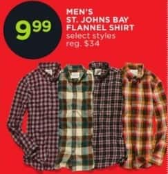 JCPenney Black Friday: St. John's Bay Men's Flannel Shirt for $9.99