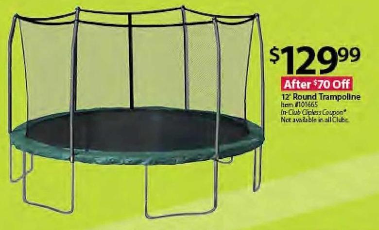 BJs Wholesale Black Friday: 12' Round Trampoline for $129.99