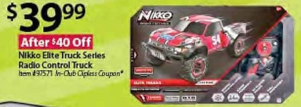 BJs Wholesale Black Friday: Nikko Elite Truck Series Radio Control Truck for $39.99